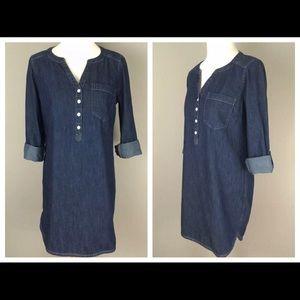 NEW Express Denim Chambray Shirt Dress | Sz Small